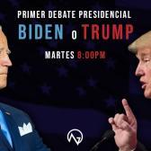 Este martes, Trump y Biden se celebran el primer debate presidencial