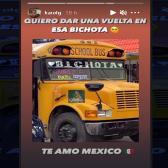 "Chofer de Reynosa nombra ""Bichota"" a su autobús; Karol G responde"