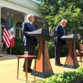 """""""Se ha comportado con nosotros con gentileza y respeto"""": AMLO a Trump"""