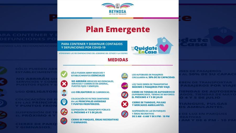 Llama Reynosa a cumplir con medidas para evitar contagios por COVID-19