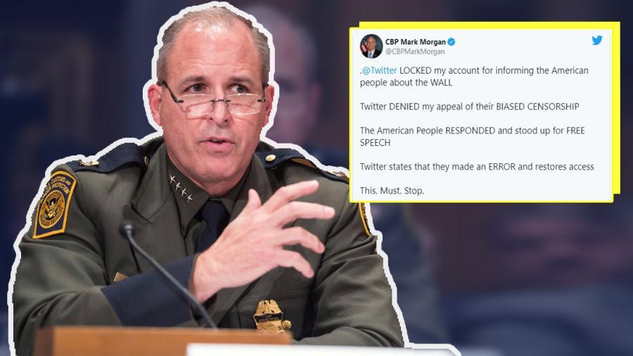 Twitter bloquea cuenta del Director interino de CBP, Mark Morgan por respaldar muro de Trump