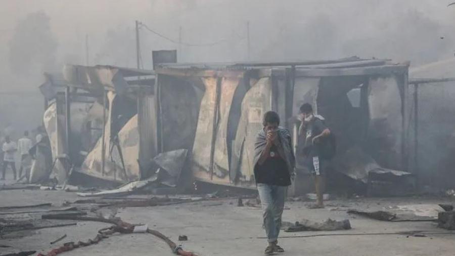Se registra nuevo incendio en el campo de refugiados de Grecia