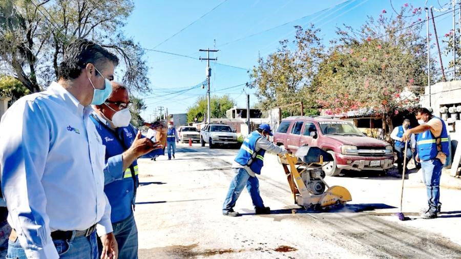 Repara COMAPA caído en Fraccionamiento Reynosa