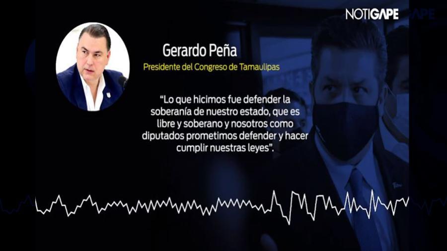 Congreso de Tamaulipas espera la resolución de la SCJN sobre el caso del gobernador: Gerardo Peña