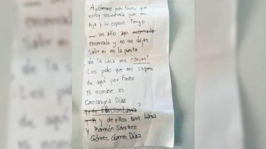 Abuelita aprovecha vacunación para pedir ayuda tras ser maltratada por su hija