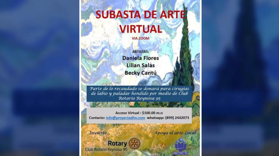 Invitan a subasta de arte virtual a beneficio de pacientes con labio y paladar hendido