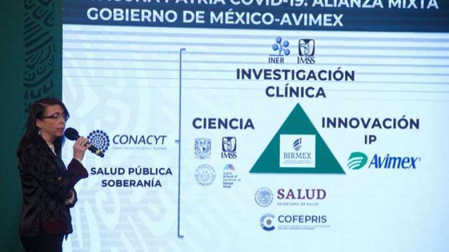 """Vacuna mexicana """"Patria"""" podría estar lista para finales de año: Conacyt"""