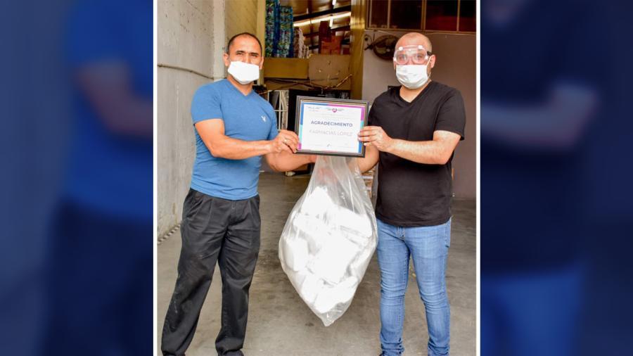 Agradece DIF Reynosa donación de Farmacia López