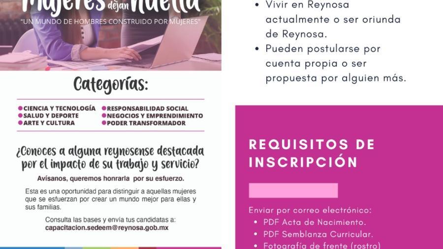 Premiarán en Reynosa a 'Mujeres que Dejan Huella'