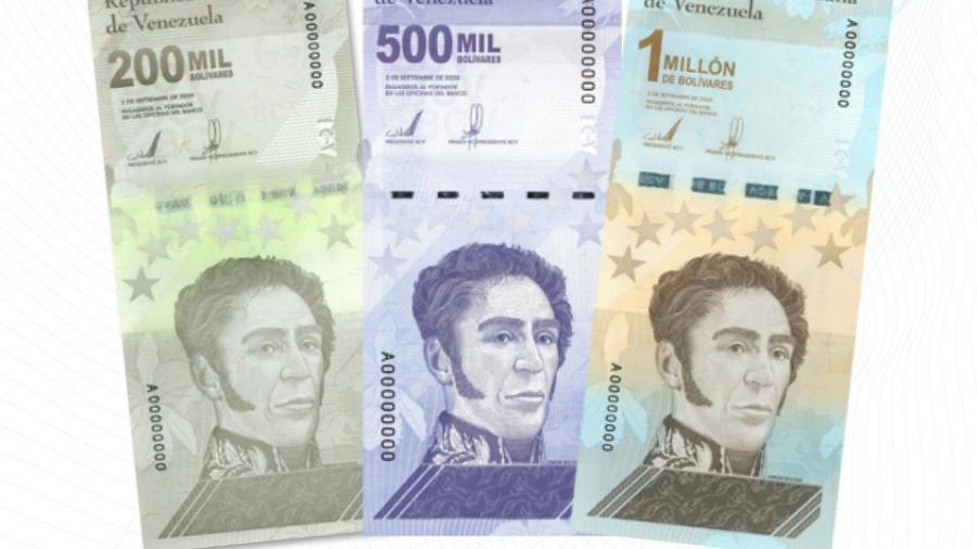 Venezuela lanza billete de un millón de bolívares
