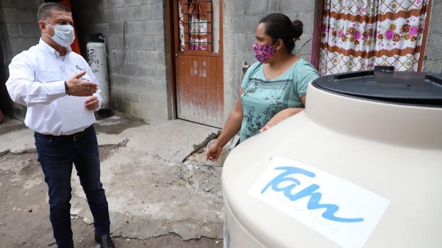 Reciben familias de Jaumave insumos subsidiados de GobTam