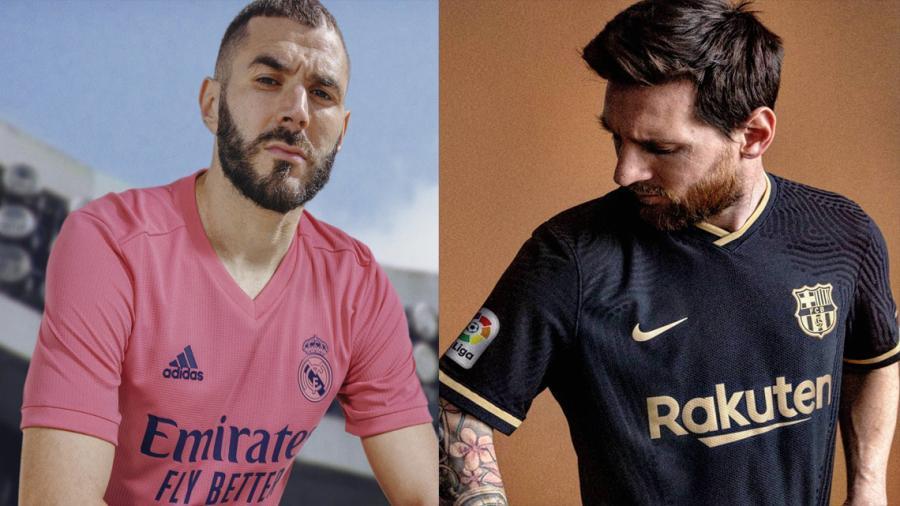 Presentan Real Madrid y Barcelona sus nuevas playeras para la temporada 2020-21