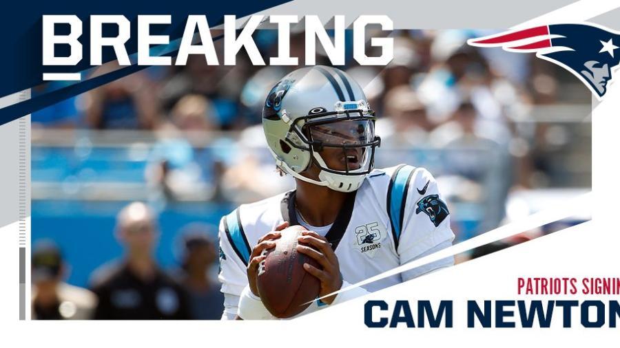 Cam Newton nuevo jugador de los Patriotas