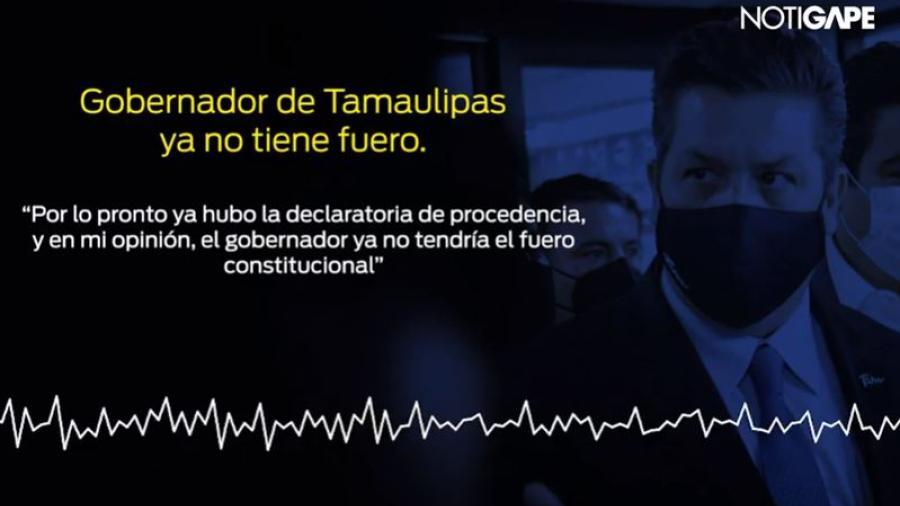 Gobernador de Tamaulipas ya no tiene fuero: Sánchez Cordero