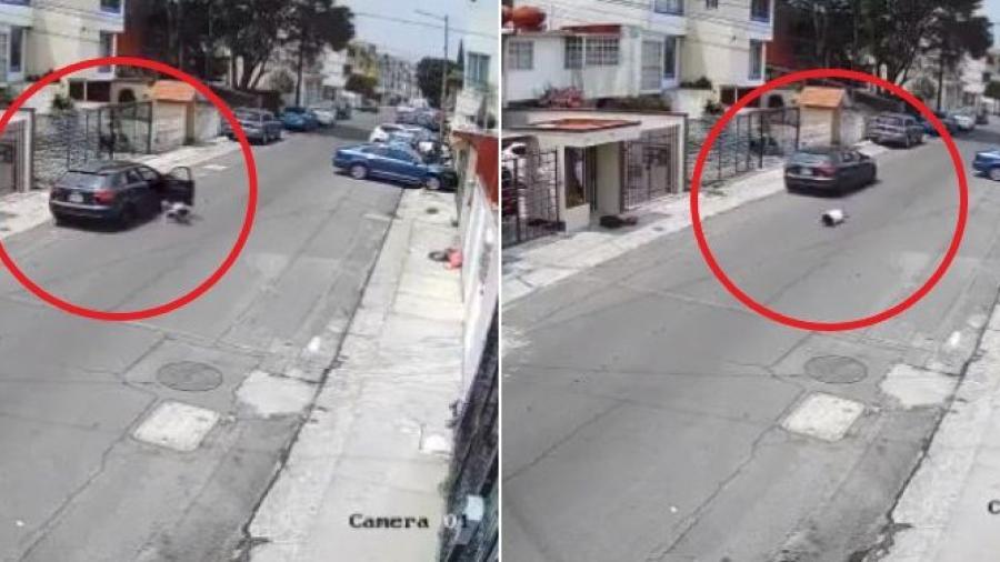 Joven lanza de su auto a su novia tras ataque de celos