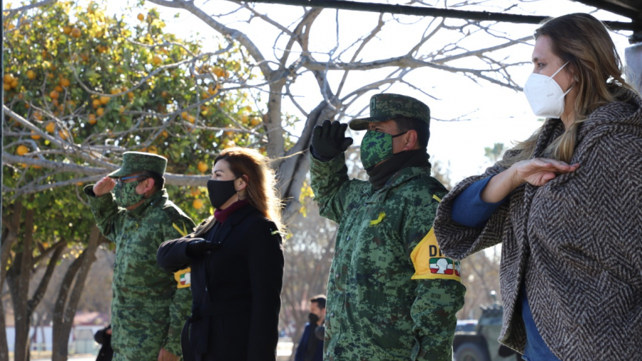 Participa Alcaldesa en ceremonia del Día del Ejército