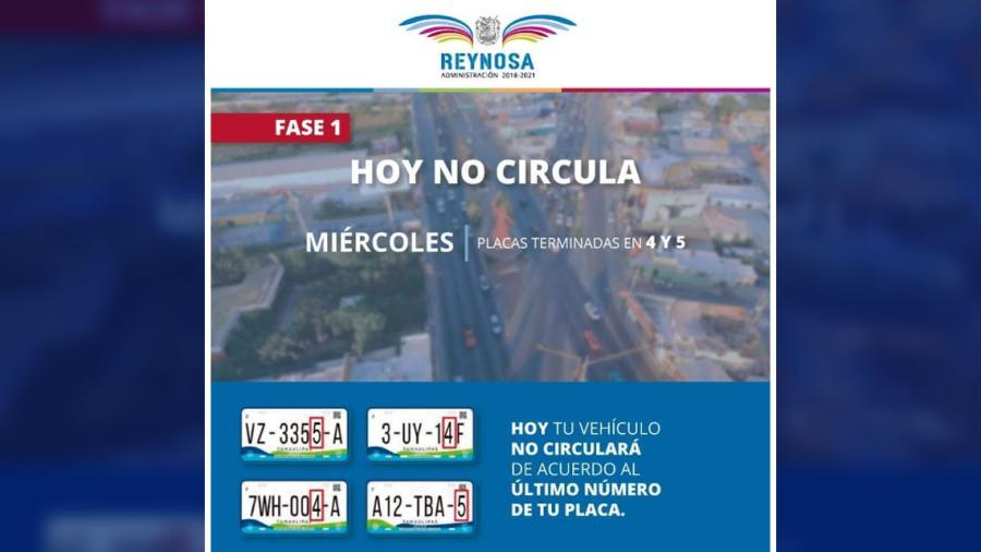 Miércoles 5 con restricción de circulación para autos con placas 4 y 5