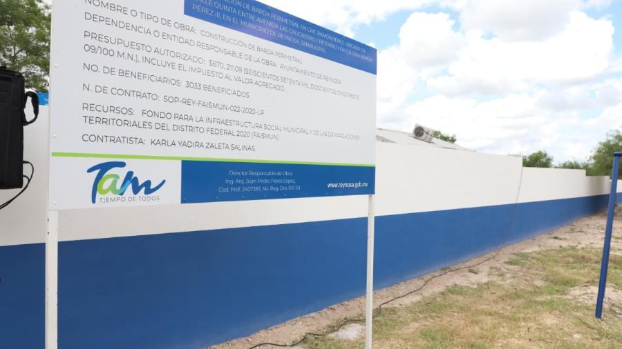Rehabilita Municipio más de 130 escuelas en Reynosa