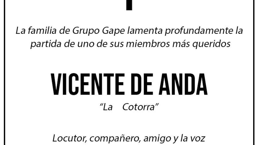 Descansa en paz, querido Vicente