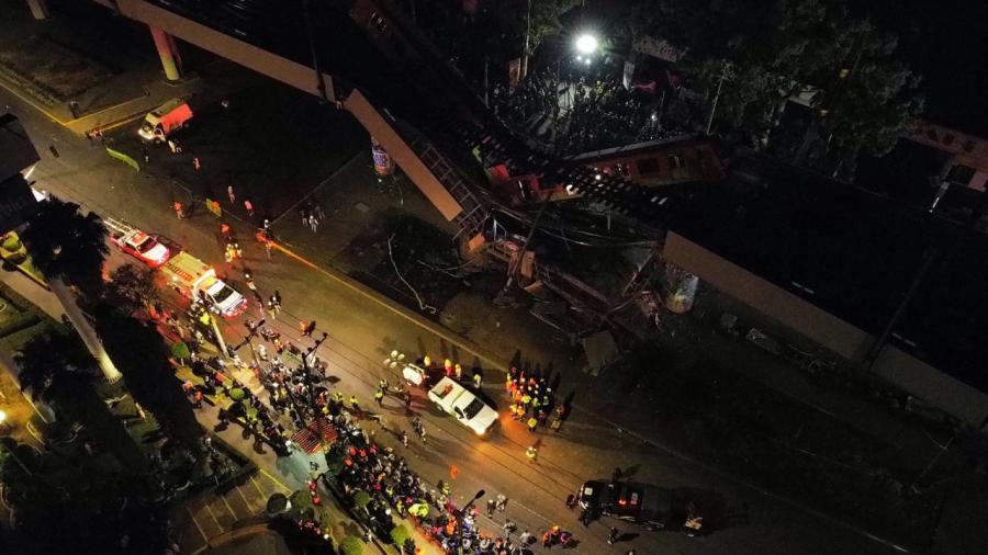Al menos 24 muertos tras desplomarse tramo elevado de la Línea 12 del Metro de la CDMX