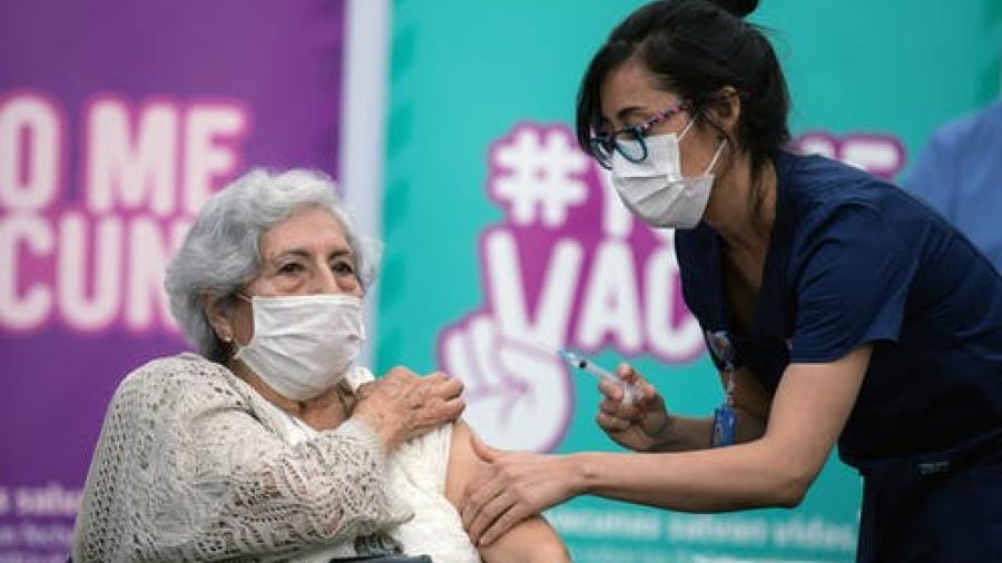 Chile suma el 16% de su población vacunada contra el COVID