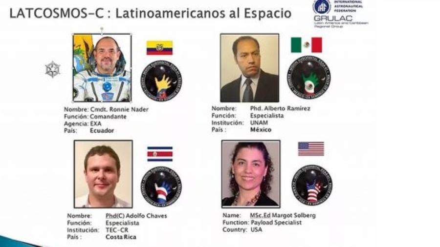 Ingeniero de la UNAM participará en primer misión espacial latinoamericana