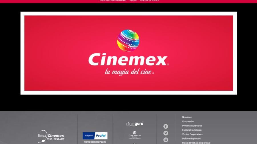 Deshabilitan sitio web y app de Cinemex; venden solo para autocinema
