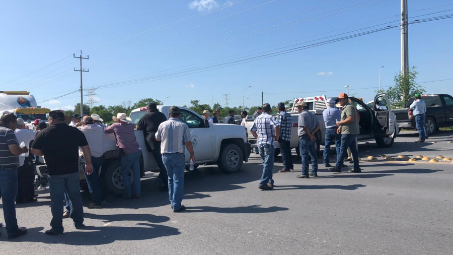 Preparan nuevo bloqueo campesino en carretera Reynosa-Río Bravo