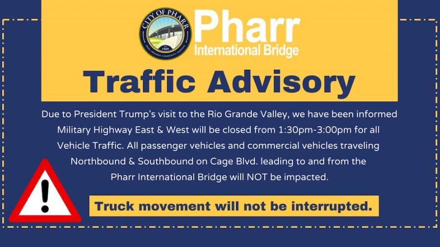 Cierran Carretera Militar ante visita de Donald Trump en Valle de Texas