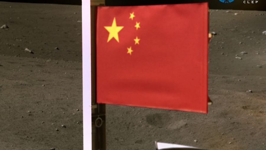 China se convierte en el segundo país en la historia en plantar su bandera en la Luna