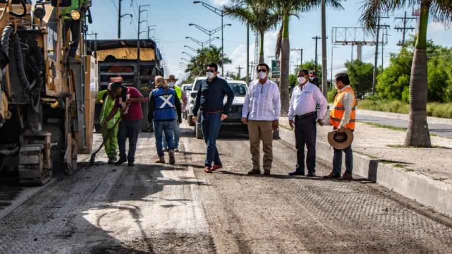 Supervisa Alcalde obras en avenidas Lauro Villar y Fidencio Trejo con inversión superior a los 20 MDP