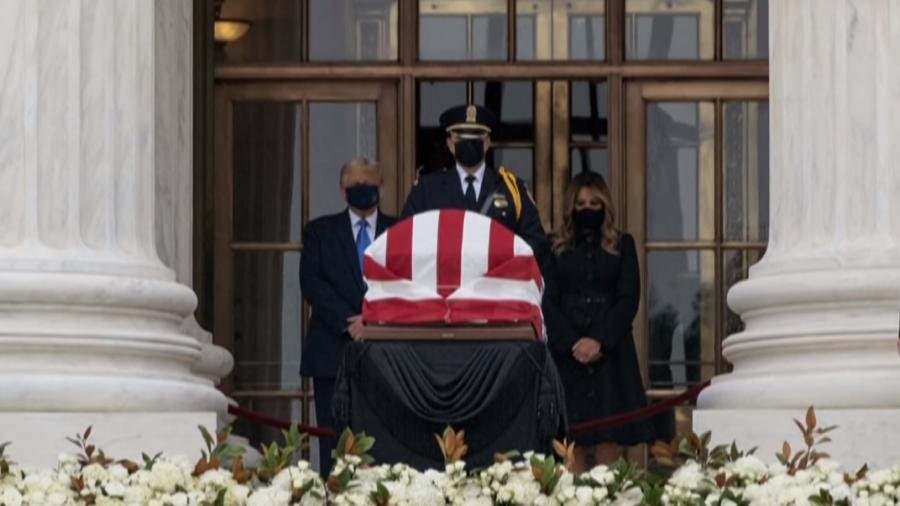 Abuchean a Donald Trump durante homenaje a jueza Ruth Bader Ginsburg